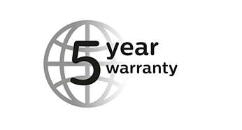 5 year warranty, worldwide voltage, no oil needed