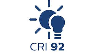 MDLS CRI は色認識には最適な CRI 92 の光を提供。非常に正確なカラーマッチングが要求される作業にも威力を発揮する CRI 92 のライティング