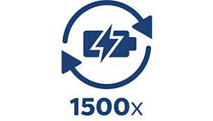 充電回数は最大 1500 回