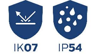 高い耐久性能:IP54/IK07 準拠