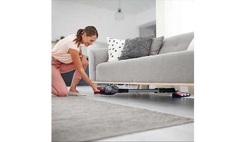 Schnellere Reichweite überall, selbst unter niedrigen Möbeln