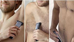 Depila o rifinisci tutto il corpo con un solo strumento