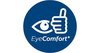 Designed for the comfort of your eyes*