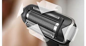 Προσαρμόζεται στις καμπύλες του σώματος εξασφαλίζοντας άνετο ξύρισμα