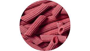 Bereiten Sie gesunde und farbenfrohe Pasta zu, die nicht nur Kinder lieben werden