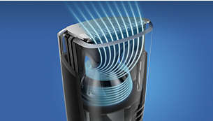 Optimised airflow for a mess-free trim