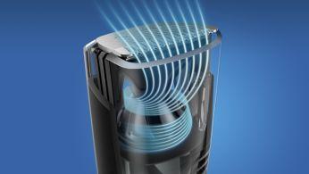 Optimalizované proudění vzduchu pro zastřižení bez nepořádku