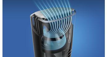 Оптимізований потік повітря для безпроблемного підстригання