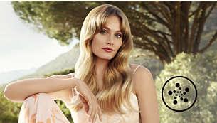 Péče pomocí iontů pro lesklé a hladké vlasy bez zacuchání