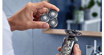 Sustituye los cabezales de afeitado en dos sencillos pasos