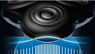 Met BeardAdapt-sensor die 15 keer per seconde de dichtheid van de baardgroei controleert en hier het vermogen op aanpast
