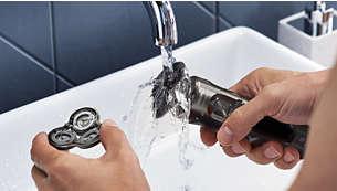 Viegla tīrīšana— vienkārši atveriet skūšanas galviņu un noskalojiet to