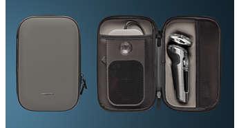 Štiti aparat za brijanje, nastavke i podložak za punjenje Qi