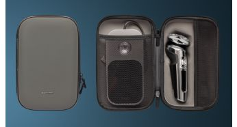 Защищает вашу бритву, аксессуары и зарядную подушку Qi