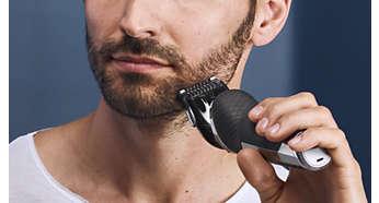 Nastavak za oblikovanje brade s 5 postavki duljine koji se postavlja pritiskom