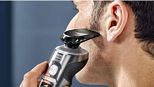 Even-up your mustache and sideburns