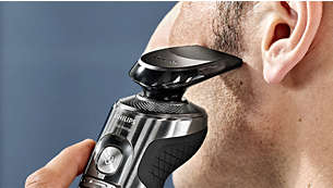 Click-on trimmer for perfect mustache and sideburn trimming