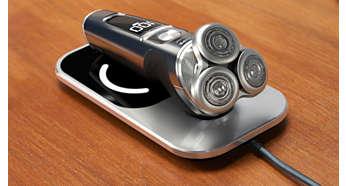 Potpuno napunite aparat za brijanje za tri sata uz podložak za punjenje Qi