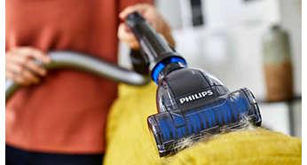 Roterende Turbo-miniborstel: eenvoudig haren en pluisjes verwijderen