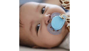 Cuddly soft plush toy included with ultra soft pacifier