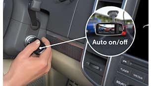 驾驶或停车时自动开始录制