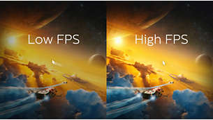 Up to 6,000 FPS refresh rate for quick action