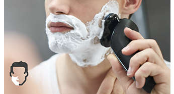 Get a convenient dry shave or a more comfortable wet shave