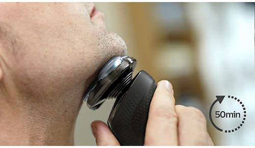 50 minutes of cordless shaving once fully charged