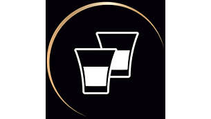 Prepara 2 cafés a la vez o 1 café doble en una taza