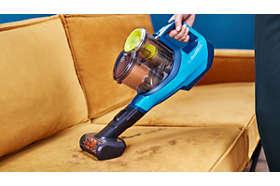 Mini turbo kefa na rýchle čistenie mäkkých povrchov
