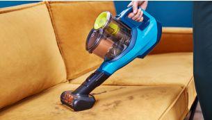 Mini turbo birste ātrai mīksto virsmu uzkopšanai