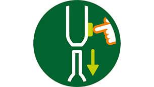 Un seul bouton de déverrouillage pour changer rapidement d'accessoire