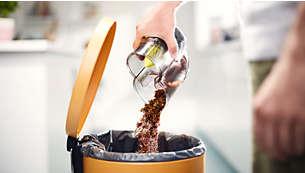 独一无二的集尘桶设计便于倒空,而不会造成扬尘