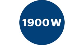 Мощный мотор 1900 Вт для отличной очистки
