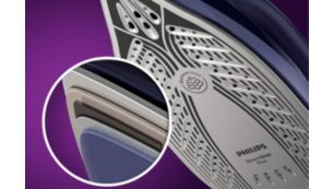 Scratch-resistant SteamGlide Plus soleplate for smooth glide