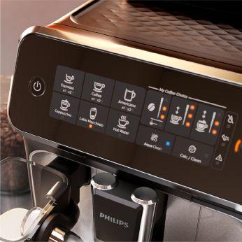 Intuicyjny ekran dotykowy umożliwia łatwe wybranie rodzaju kawy