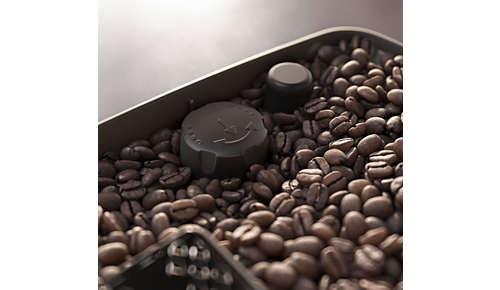 Facilmente regolabile in base ai tuoi gusti, grazie al macinacaffè con 12 impostazioni