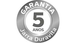 5 Anos de garantia para o copo Duravita