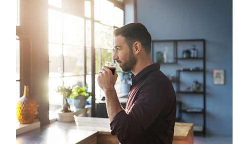Temperatura, aroma e crema perfetti tazza dopo tazza*