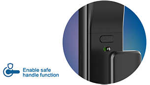 Safe handle: No more safety risks, be reassured while away