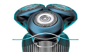 Senzor BeardAdapt pro účinné holení i na hustě zarostlých místech