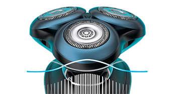 BeardAdapt-sensor voor een efficiënt scheerresultaat, zelfs op plekken met veel haargroei