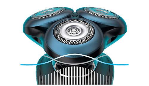 BeardAdapt Sensor tilpasser barberingen til skægstråets tykkelse