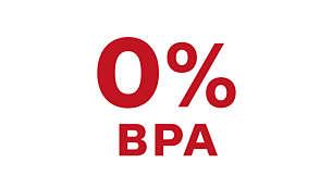 Feito com materiais livres de BPA