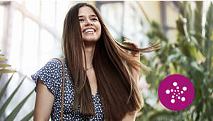 Parlak, elektriklenmeyen saçlar için iyonik bakım