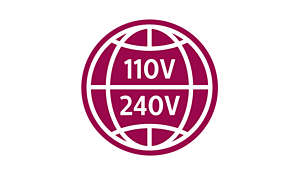 Universal voltage for worldwide use