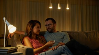 Relax with warm white smart lights