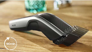 Up to 90 minutes of cordless use