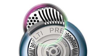 Οι λεπίδες MultiPrecision κόβουν αποτελεσματικά ακόμα και τις πιο κοντές τρίχες