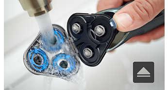 Apertura con un solo botón para una limpieza fácil